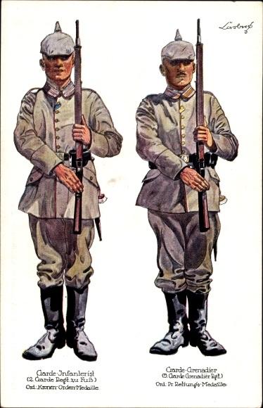 Regiment Ak Garde Infanterist, 2. Garde Regt zu Fuß, Garde Grenadier, 5. Garde Grenadier Regt