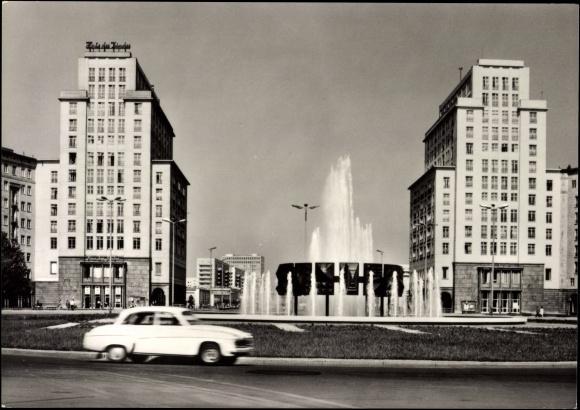 ansichtskarte postkarte berlin friedrichshain blick zum. Black Bedroom Furniture Sets. Home Design Ideas