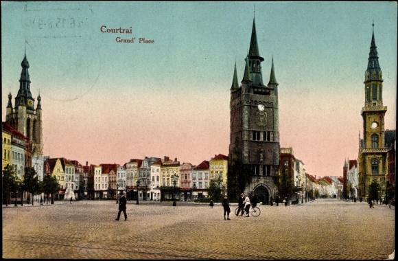 Ansichtskarte postkarte courtrai westflandern for Courtrai belgium
